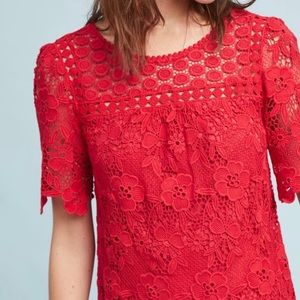 Anthropologie Vanessa Virginia Candace Lace Top